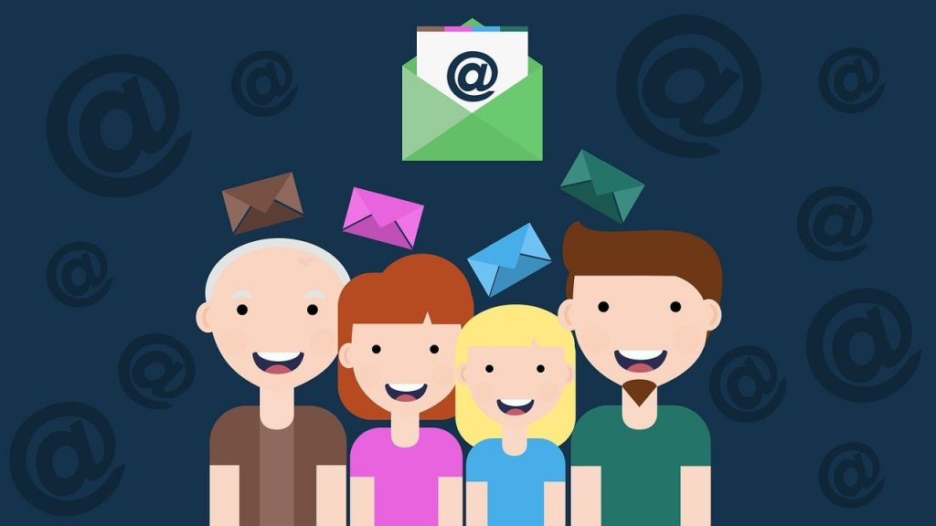 cartoon persons getting newsletter